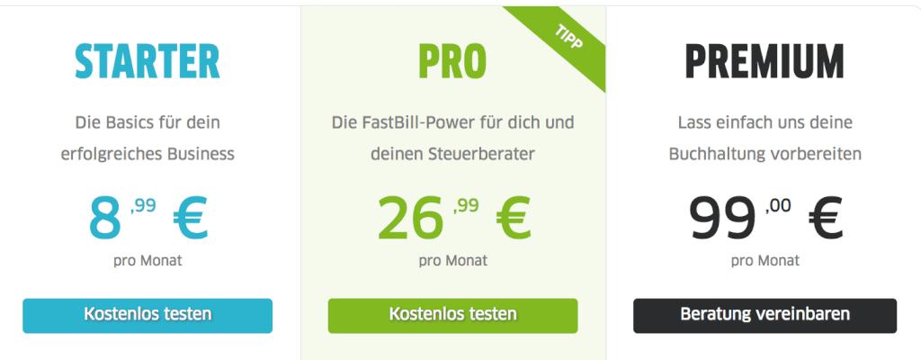 FastBill Preise