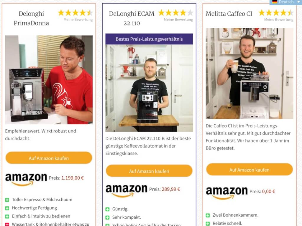 coffeeness affiliate