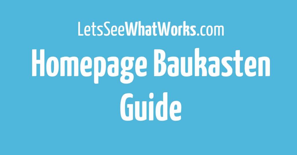 Homepage Baukasten Vergleich: Die besten Lösungen für kleine Unternehmen, Blogger & E-Commerce
