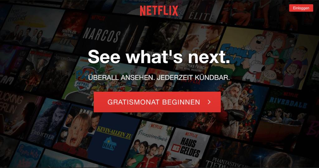 Netflix weiß um seine starken Adjektive: Überall und jederzeit