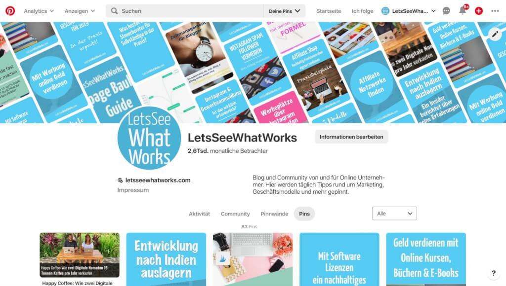 pinterest letsseewhatworks