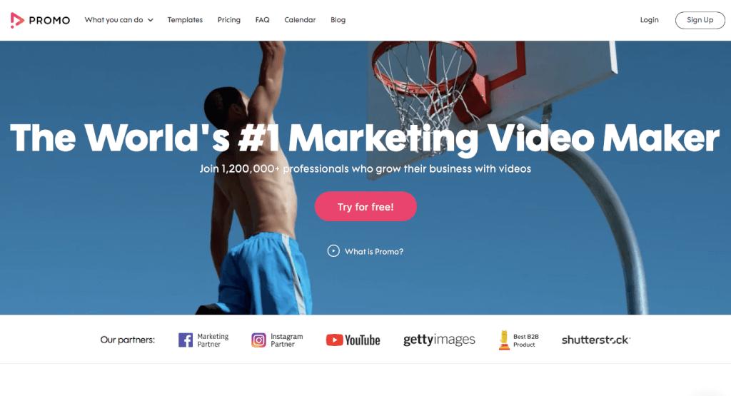Werbevideo erstellen - Startseite Promo