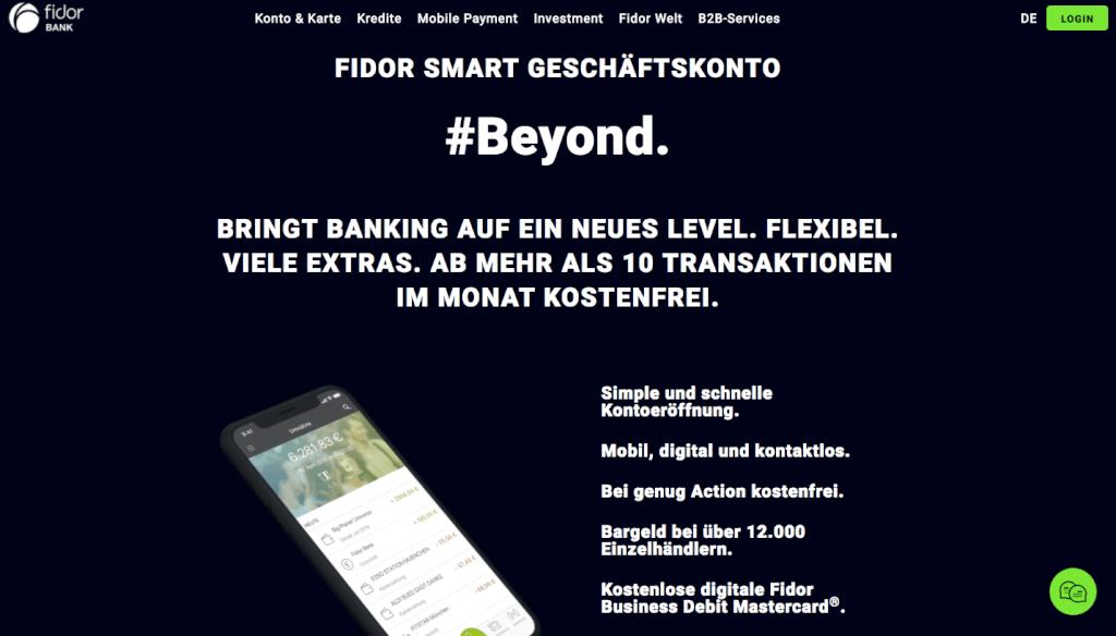 Geschaeftskonto-Vergleich Fidor Bank