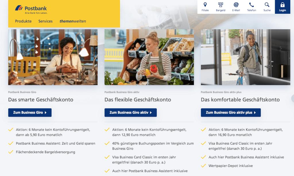 Postbank Geschaeftskonto-Vergleich
