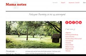 Mutter-Blog von Mama notes über Familie, Kinder und berufstätigen Eltern