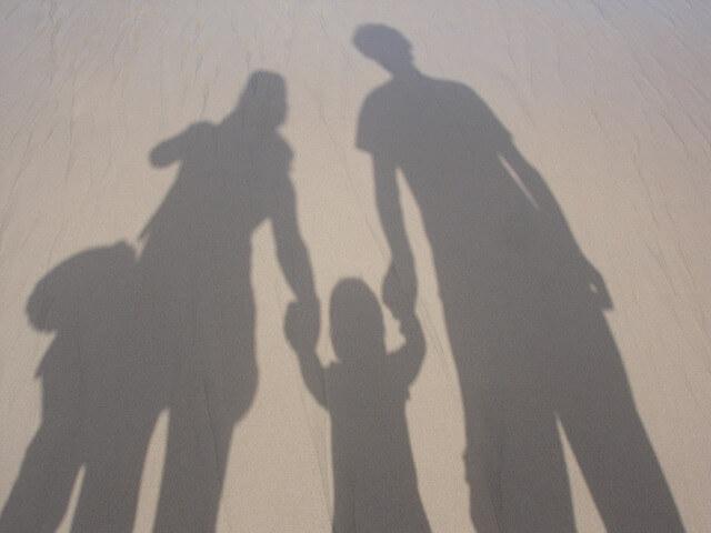 Familie aufgeben stark und alleinerziehend