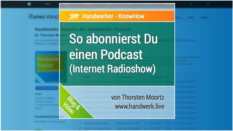 Podcast mit dem iPhone abonnieren