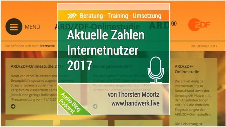 Onlinenutzung 2017 aktuelle Zahlen Facebook Nutzerverhalten Studie ARD und ZDF