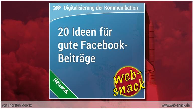 20 Ideen für bessere Facebook-Beiträge