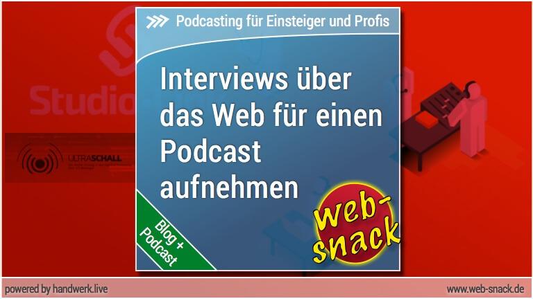 Interviews über das Internet führen