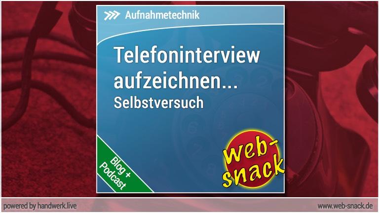 Telefonisches Interview aufzeichnen