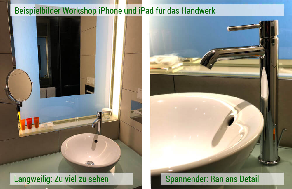 Workshopfoto iPhone und iPad Handwerk