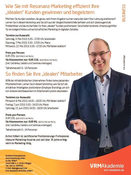 Achim Stillert Seminar VRM Akademie Resonanz Marketing