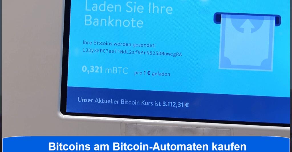 Bitcoin ATM: Wie kaufe ich Bitcoins - Bitcoin Automat