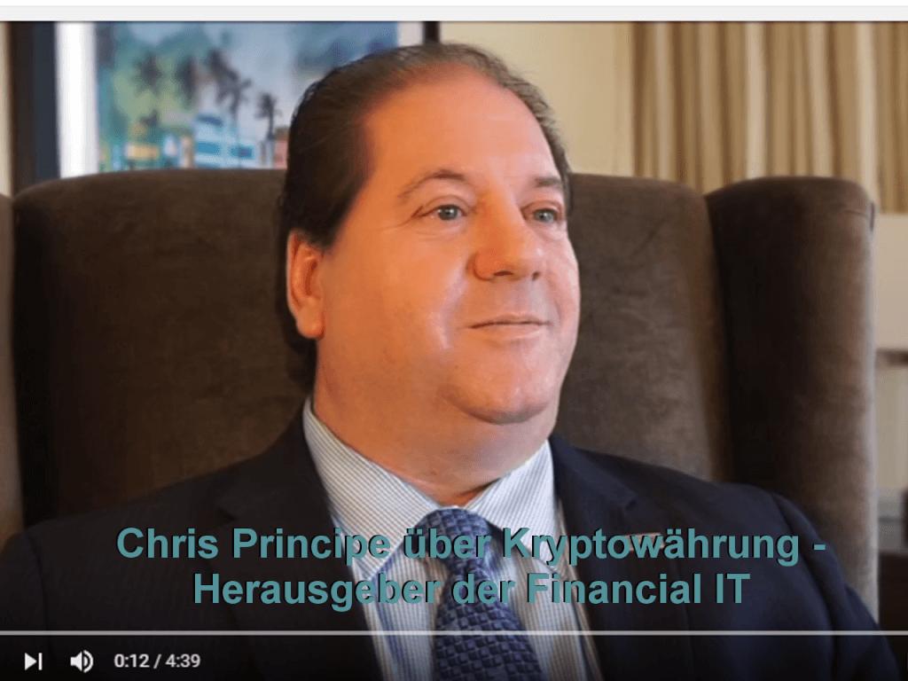 Chris Principe über Kryptowährung - Herausgeber der F-IT