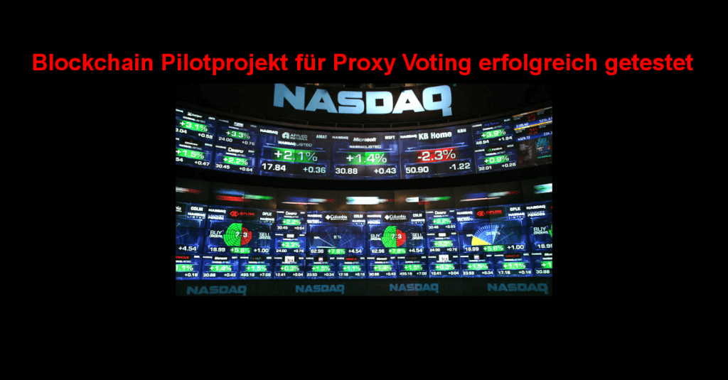 Blockchain Pilotprojekt für Proxy Voting erfolgreich getestet