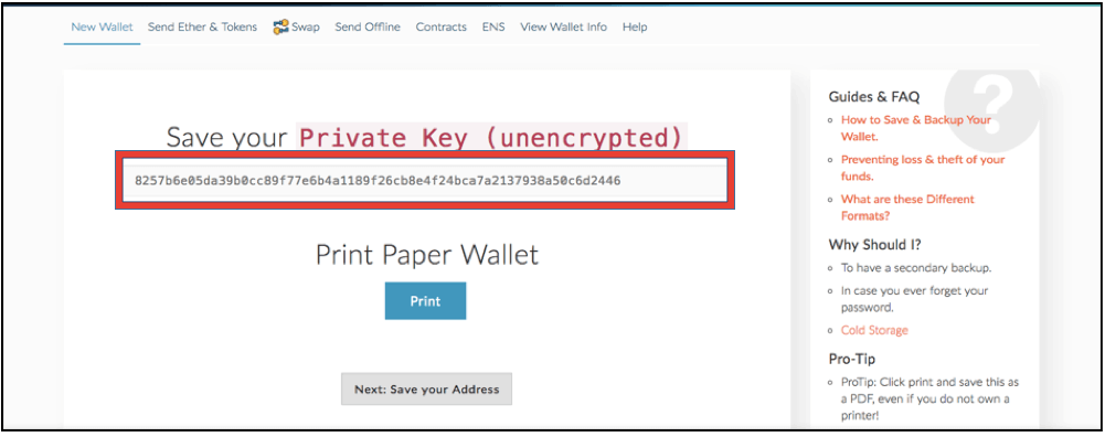 Ethereum Wallet private key