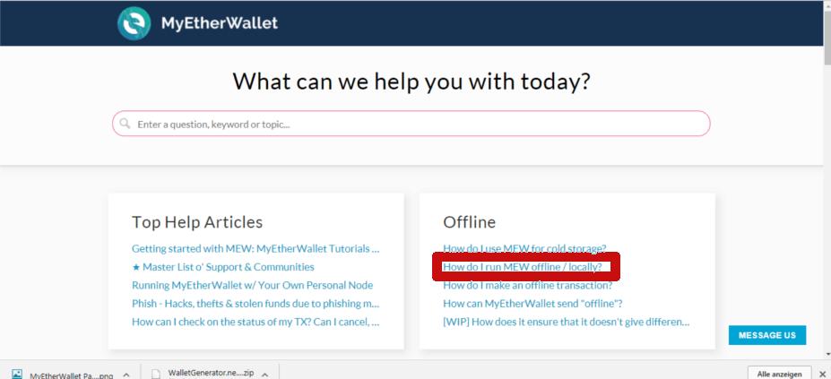 Offline Wallet Ethereum