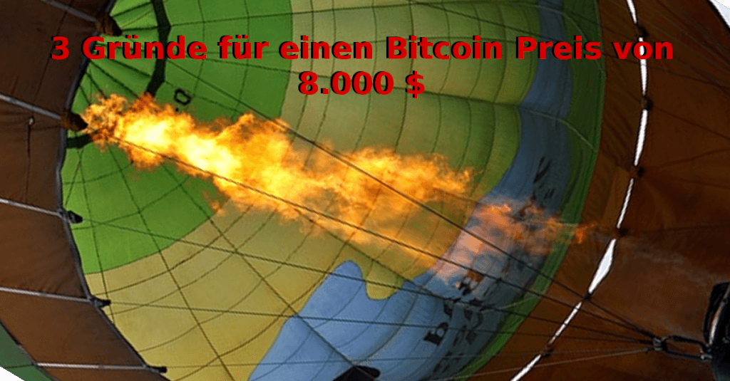3 Gründe für einen Bitcoin Preis von 8.000 $