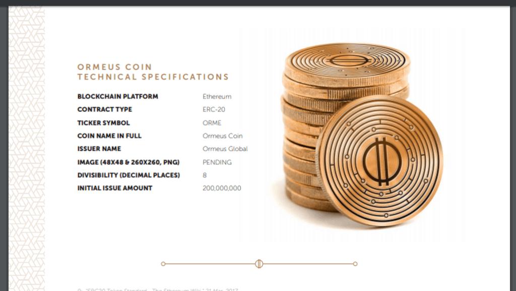ORME Ormeus Coin