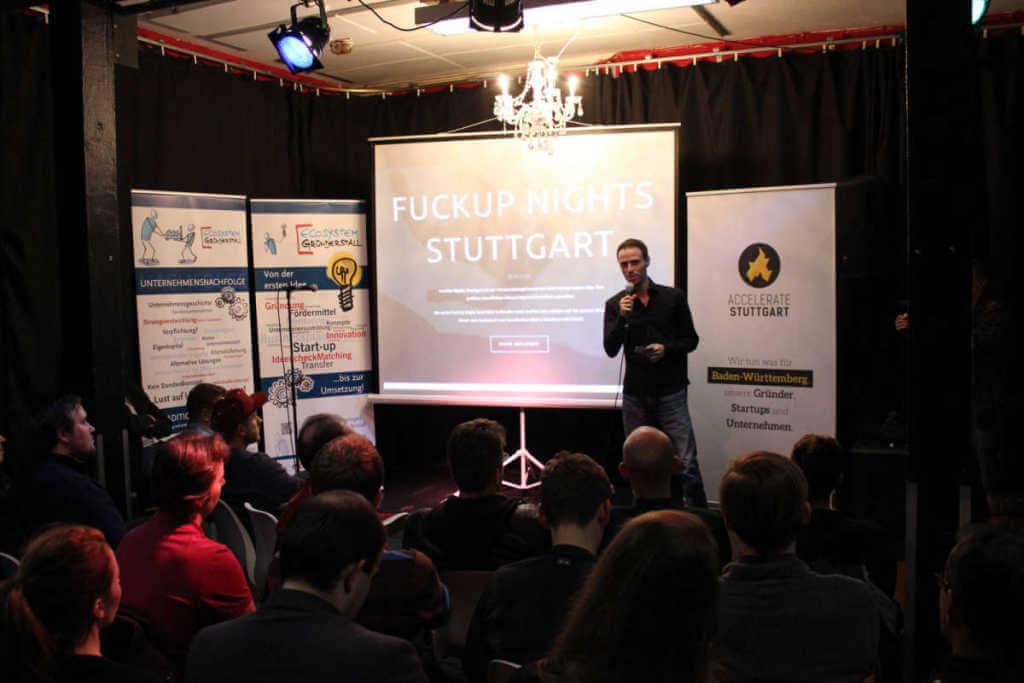 FuckUp Nights Stuttgart – Erfahrene Unternehmer berichten vom Scheitern