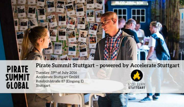 Pirate Summit Stuttgart on July 19, 2016 – Apply now for the startup pitches or join as guest