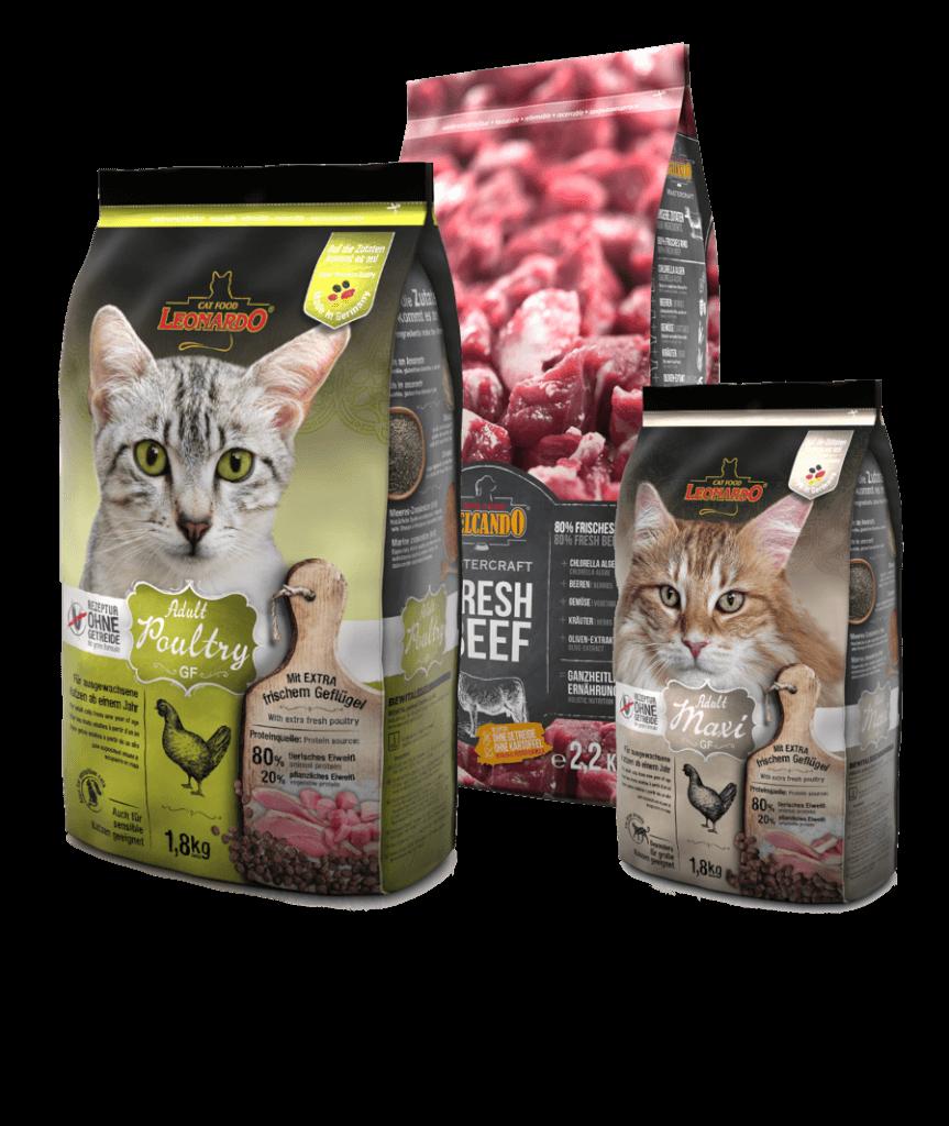 Hochwertige Tiernahrung gut verpackt