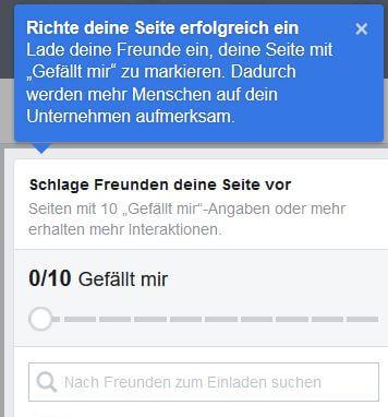 Facebook-Seite Freunde einladen