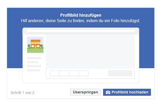facebook-seite profilbild hochladen