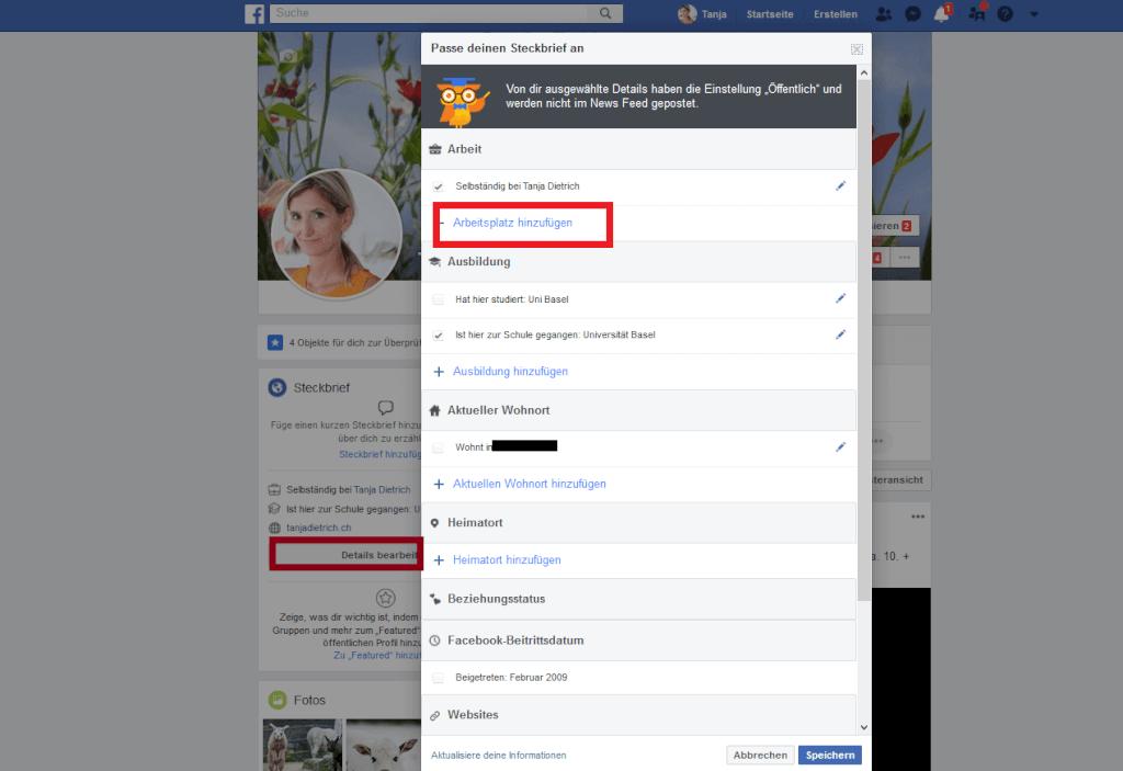 Facebook Seite Profil hinzufuegen kl