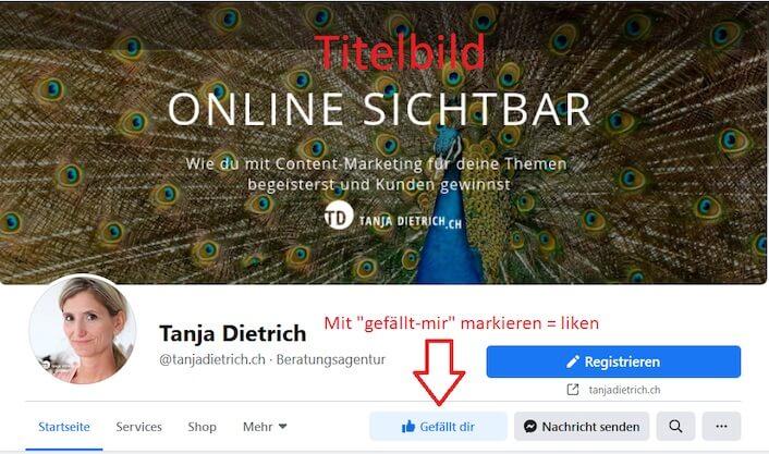 Facebook Seite Titelbild neues Design