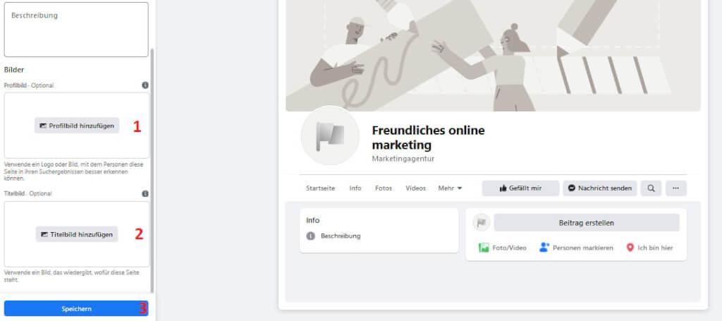 3 facebook seite einrichten