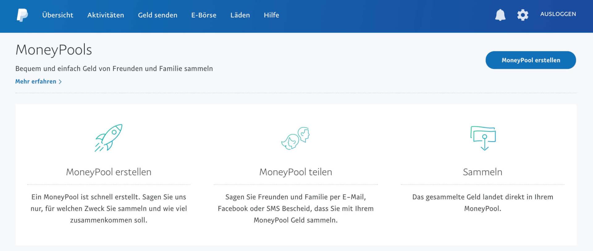 PayPal MoneyPools  1