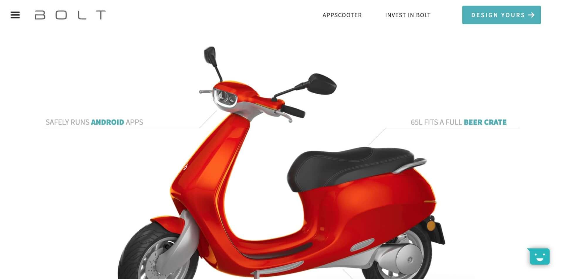 AppScooter E Roller Bolt Mobility