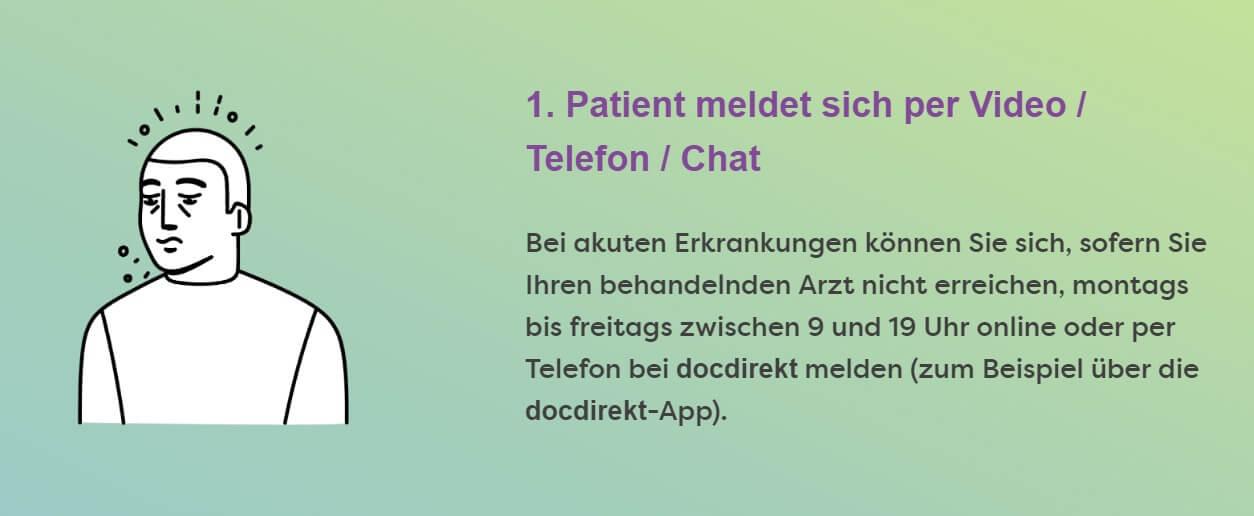digitaler Arztbesuch docdirekt Gespraech