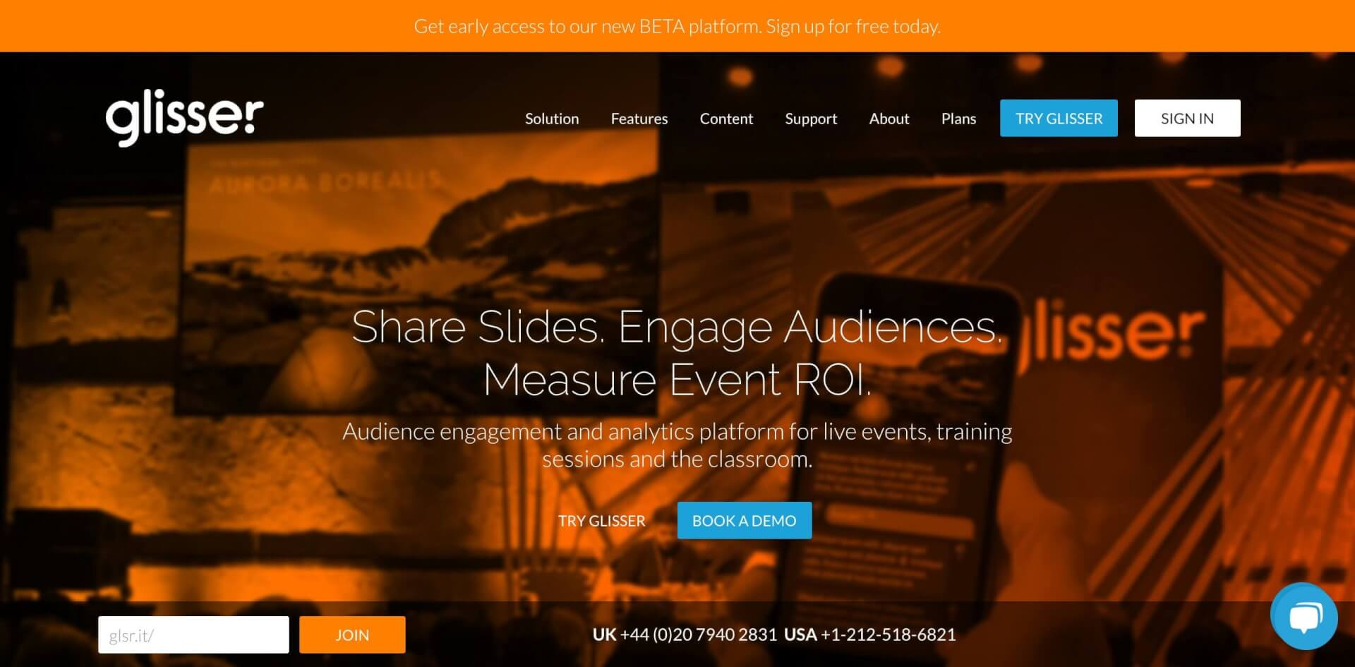 Glisser Audience Response System live Events JSS Digital 1