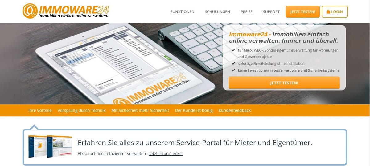 Online Hausverwaltung Immoware24