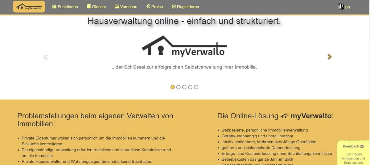 Online Hausverwaltung Myverwalto.eu
