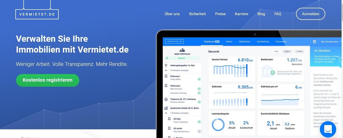 Online Hausverwaltung Vermietet.de