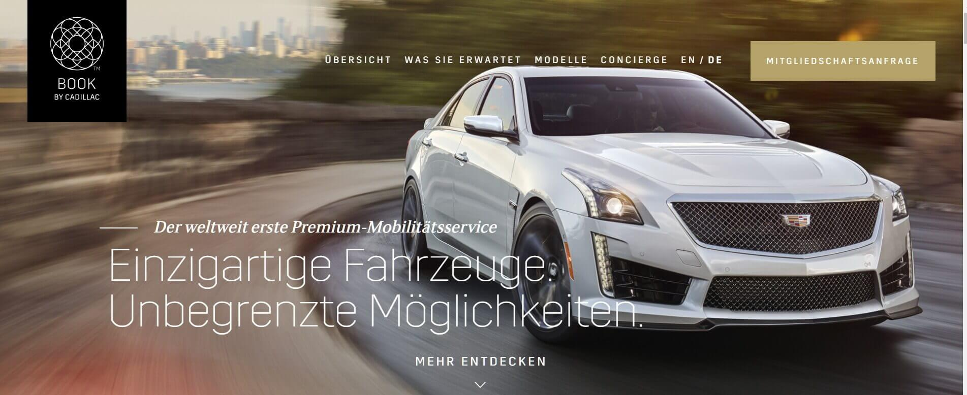 Auto Abo Book by Cadillac