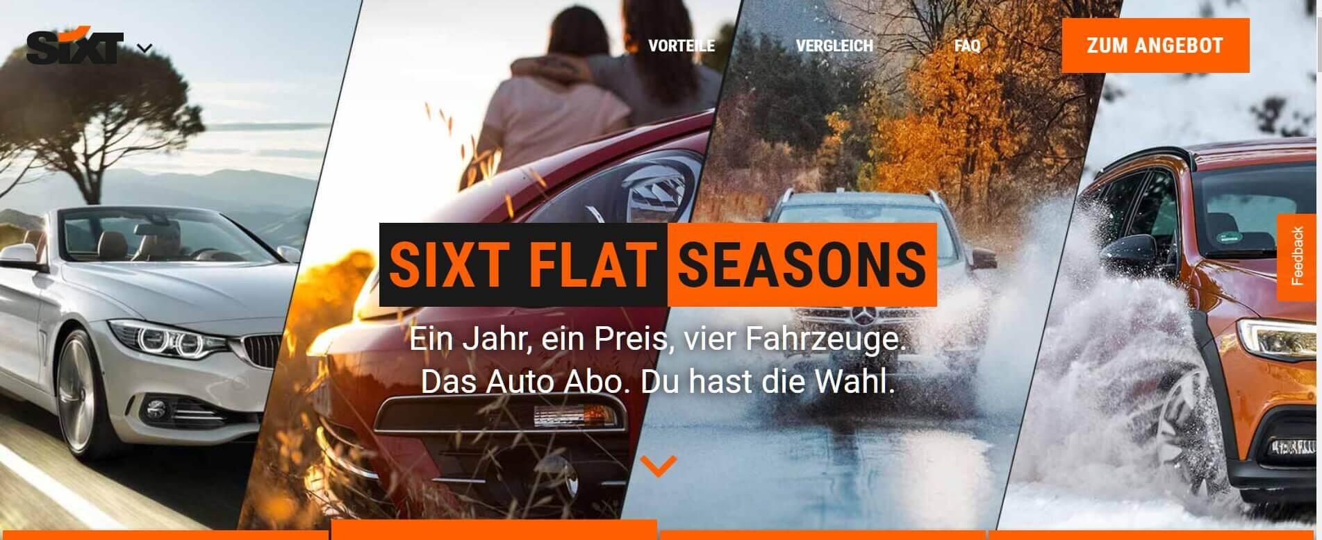 Auto Abo Sixt Seasons