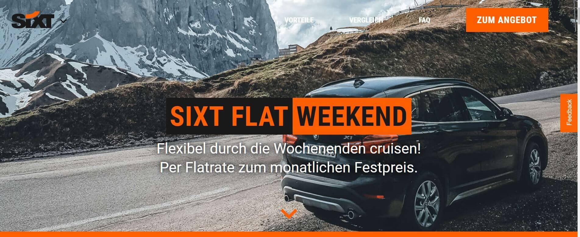 Auto Abo Sixt Weekend