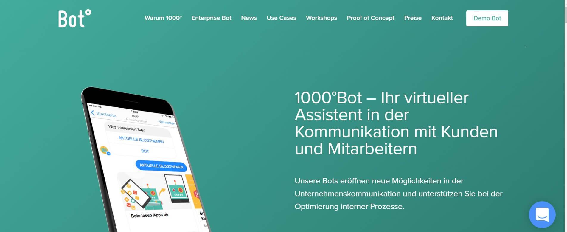 Chatbot erstellen 1000 Bot 1