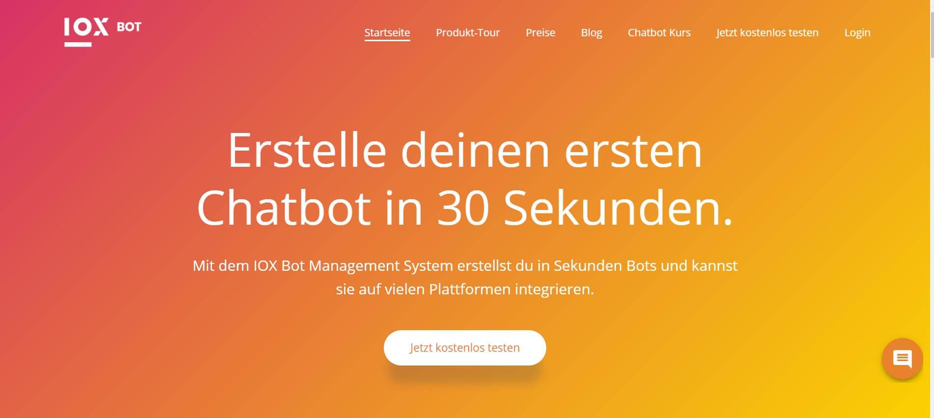 Chatbot erstellen IOX