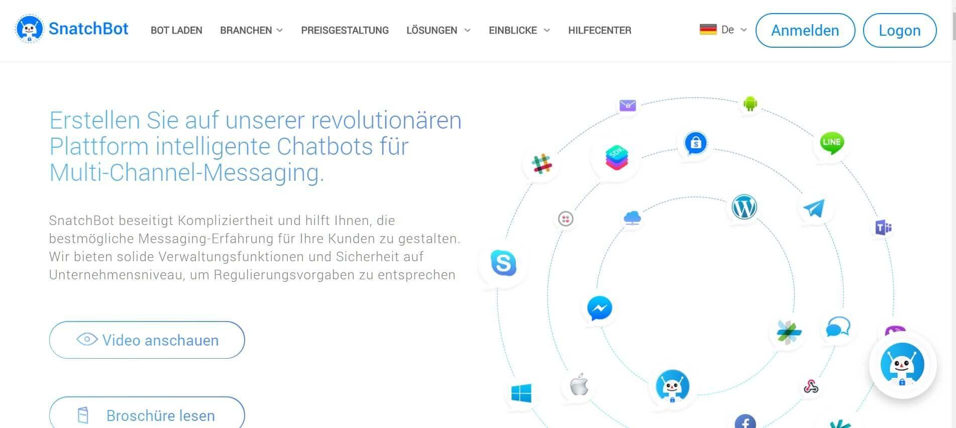 Chatbot erstellen Snatchbot