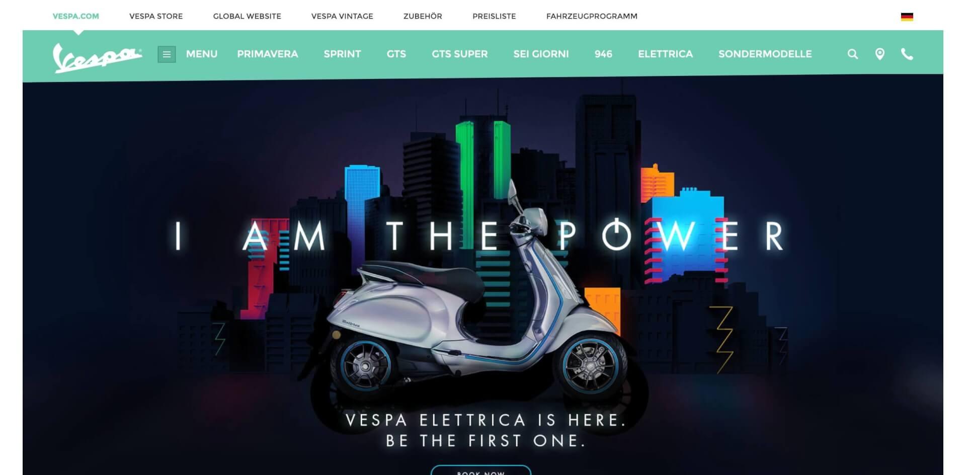 Vespa Piaggio Offizielle Website Vespa Elettrica