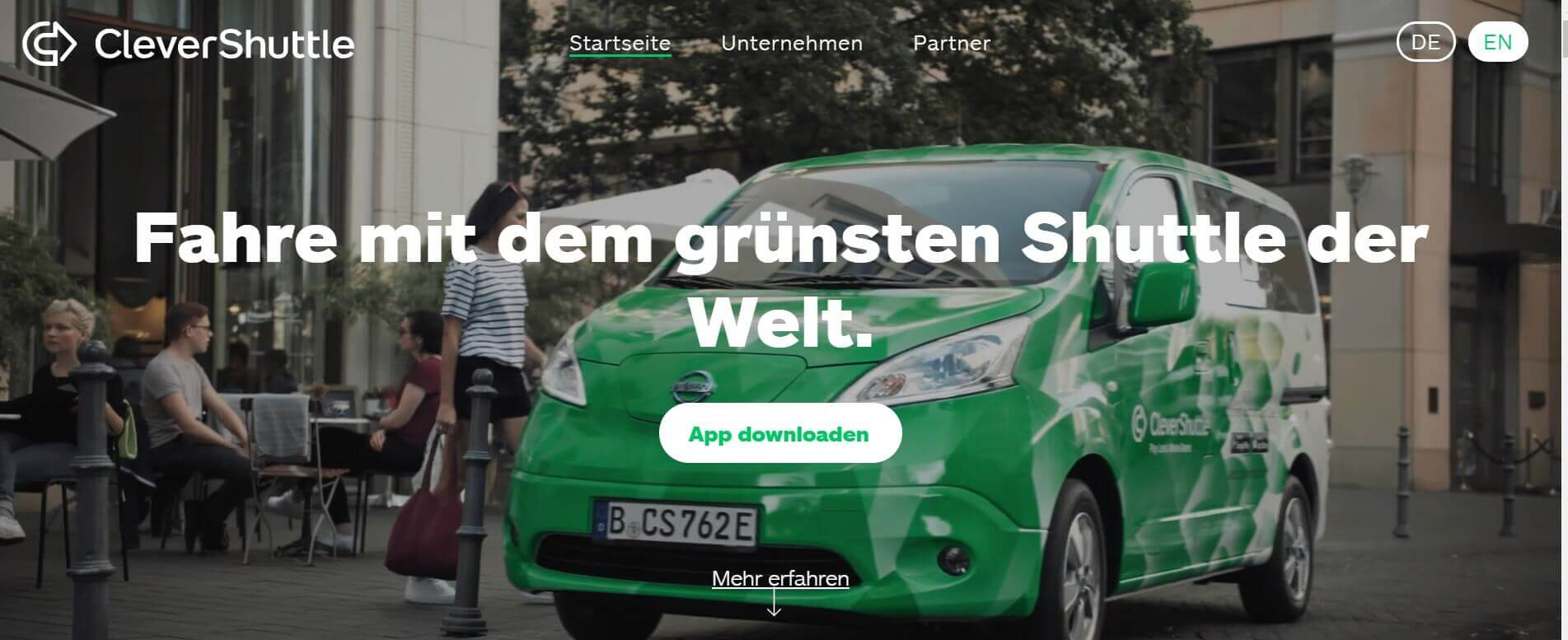 Beste Taxi App CleverShuttle