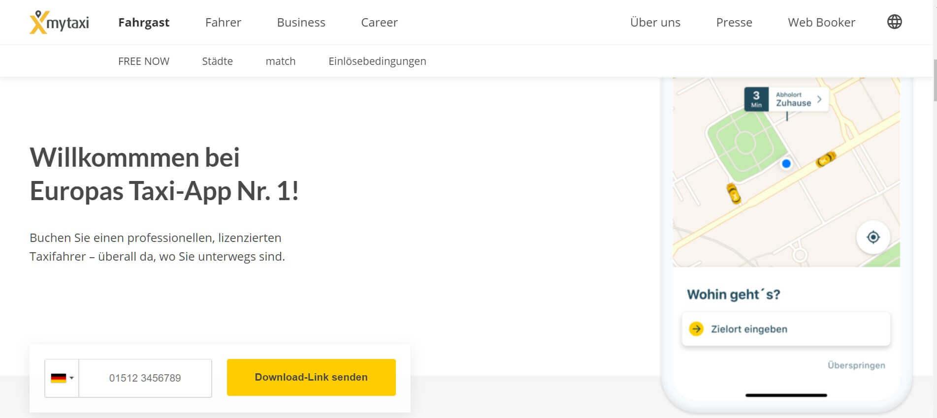 Beste Taxi App Mytaxi