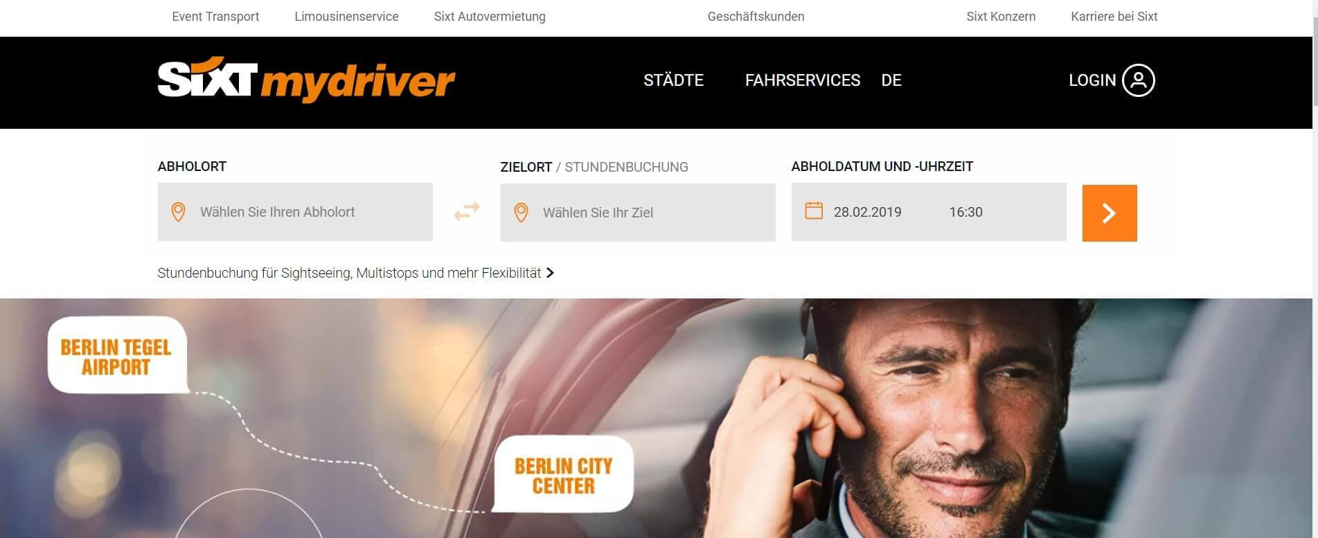 Beste Taxi App Sixt mydriver