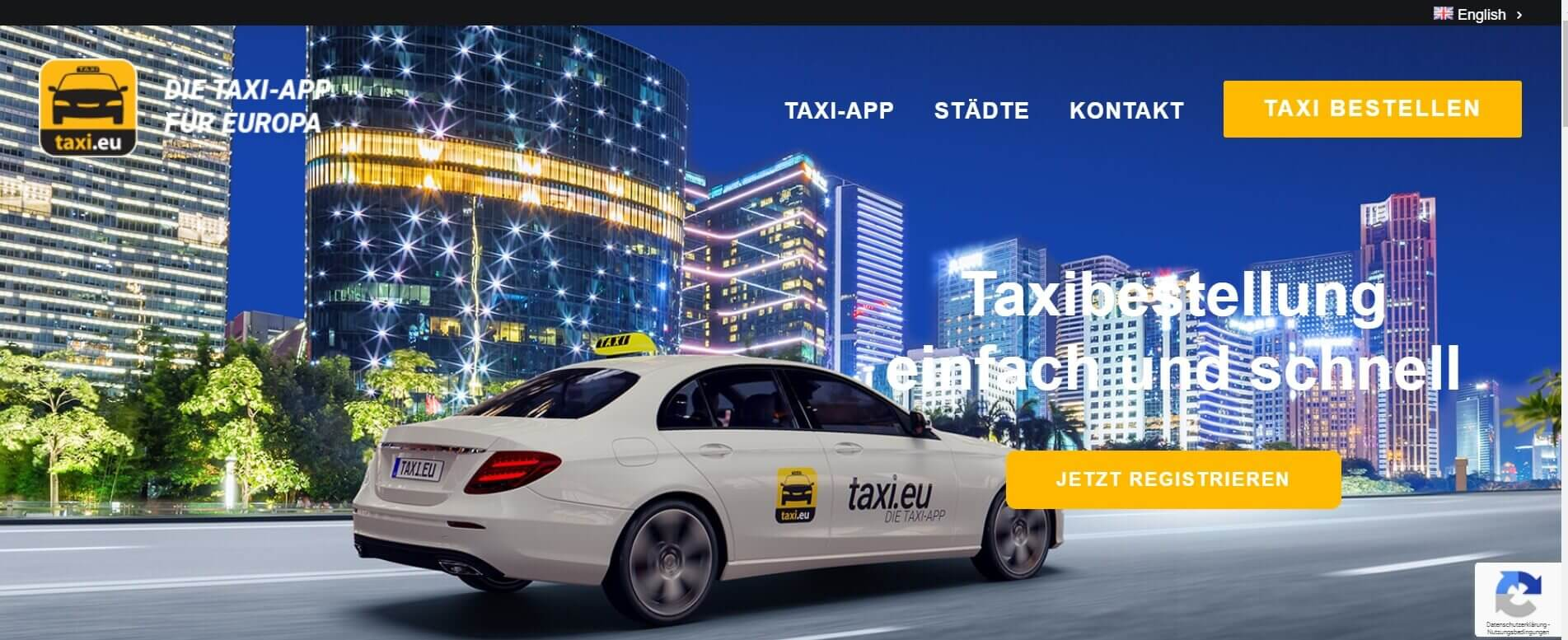 Beste Taxi App Taxi.eu